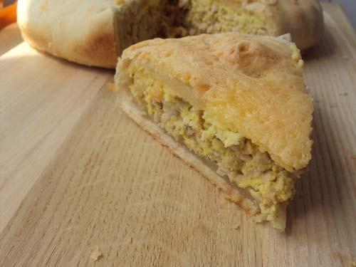 рецепт быстрого мясного пирога с фаршем