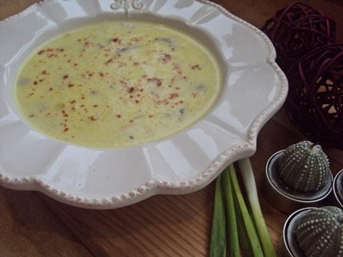 Крем-суп из шампиньонов по-французски