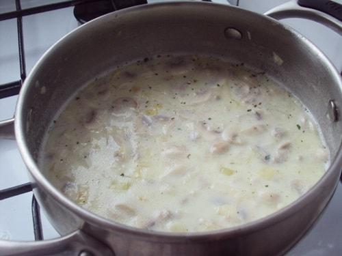 крем суп из шампиньонов без сливок