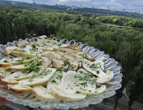 Карпаччо из белых грибов